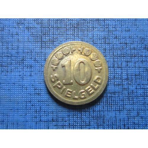 Жетон игральный Spielgeld 10 игровые деньги 15 мм