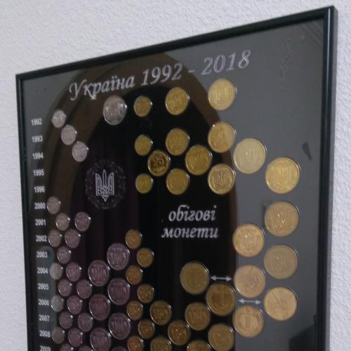 Панно для оборотных монет Украины 1992-2018 (БЕЗ МОНЕТ!!!)