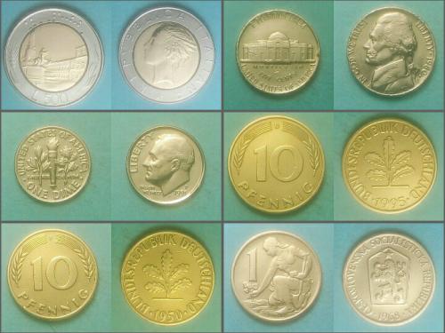 Разменные монеты разных стран, 16 шт. Одним лотом