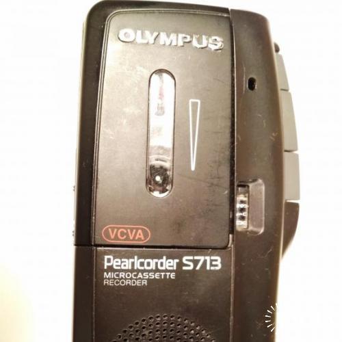 Диктофон OLYMPUS Pearlcorder S713! УНИКАЛЬНЫЙ РАРИТЕТ В РАБОЧЕМ СОСТОЯНИИ!