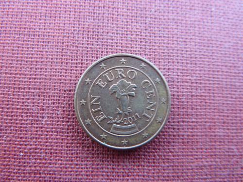1 евроцент  2011г.