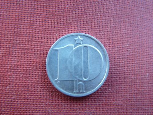 10 геллеров 1977г. Чехословакия  ЧССР