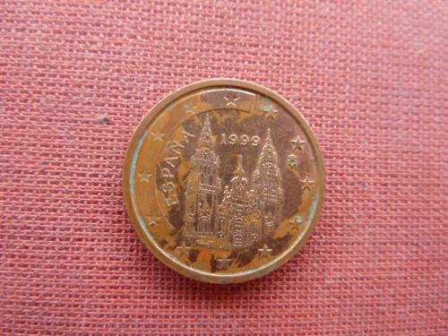 2 евроцента 1999г. Испания