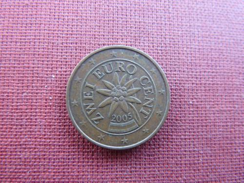 2 евроцента  2005г.