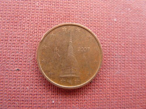 2 евроцента 2007г. Италия