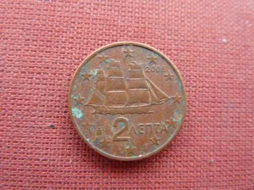 2 евроцента 2008г. Греция