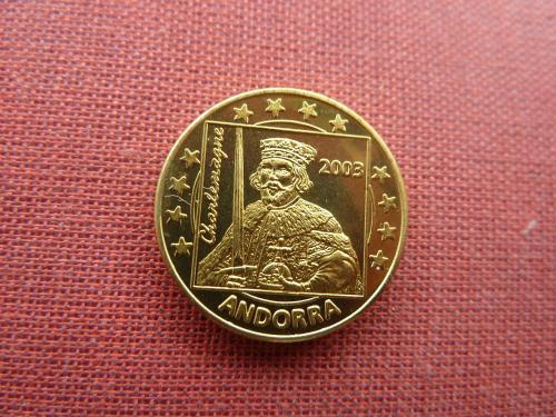 Андорра 10 евро центов 2003г. UNC из набора пробных евро монет редкий европроба