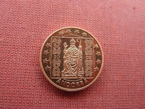 Андорра 5 евро центов 2003г. UNC из набора пробных евро монет редкий европроба
