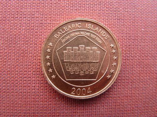 Балеарские острова  5 центов  2004г. евро-пробы,UNC редкий  Islas Baleares  Мальорка, Менорка, Ибица