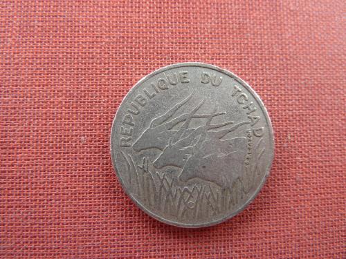 Чад 100 франков 1975г. редкие