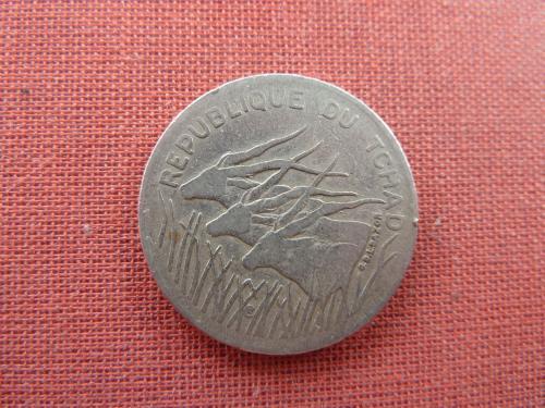 Чад 100 франков 1982г. редкие