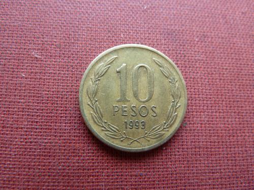 Чили 10 песо 1993г.