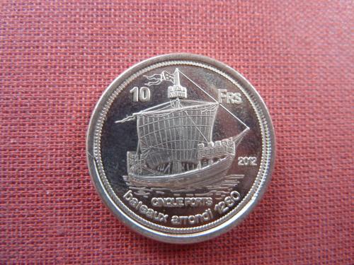 Европа остров 10 франков 2012г. очень редкие