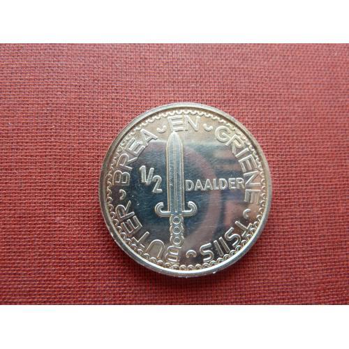 Фрисландия (Нидерланды) 1/2 даалдера1983г. из набора, глубокое плакирование серебром  Супер редкий