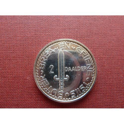Фрисландия (Нидерланды) 2 даалдера1983г. из набора, глубокое плакирование серебром  Супер редкий