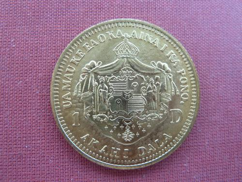 Гавайские острова  1   доллар 1883г.  39мм, Калакауа I редкий UNC из набора  Unusual