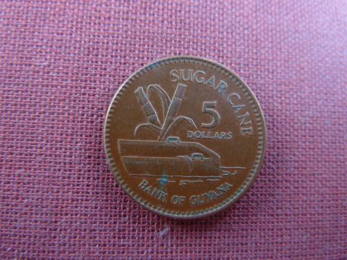 Гайана 5  долларов  2009г.