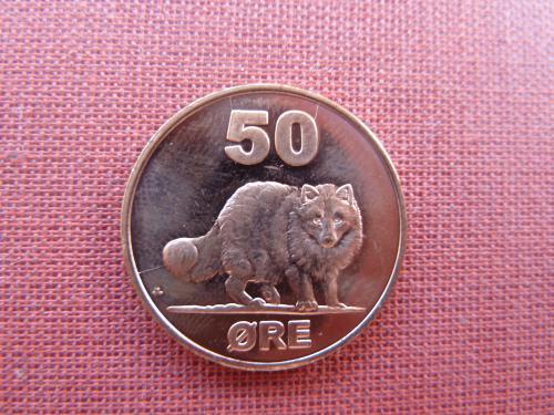 Гренландия 50 эре 2010г. UNC