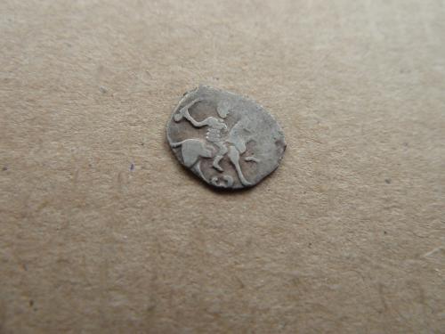 Иван IV Грозный деньга 1535-1547гг. знак W монетный двор Тверь хороший сохран