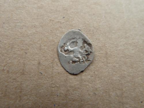 Иван IV Грозный деньга после 1547г. знак ДЕ монетный двор Москва
