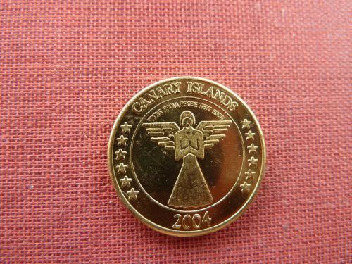 Канарские острова 20 центов 2004г пробные очень редкие