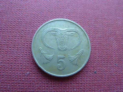 Кипр 5 центов 1983г.