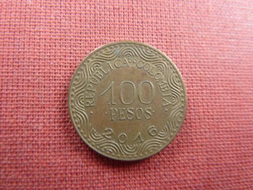 Колумбия 100 песо  2016г.