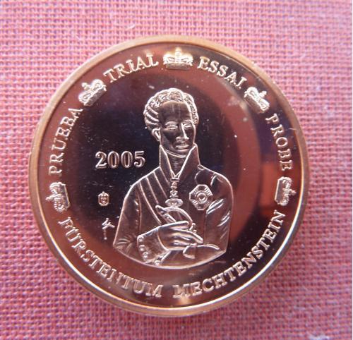 Лихтенштейн 5 центов  2005г. Иоганн I фон Лихтенштейн,из набора европробы , UNC, капсула