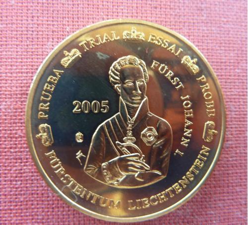 Лихтенштейн 50 центов  2005г. Иоганн I фон Лихтенштейн,из набора европробы , UNC, капсула
