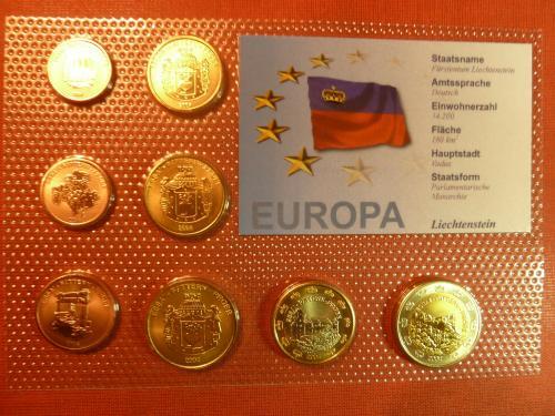 Лихтенштейн набор европробы 2004г., UNC, блистер,,сертификат-гарантия