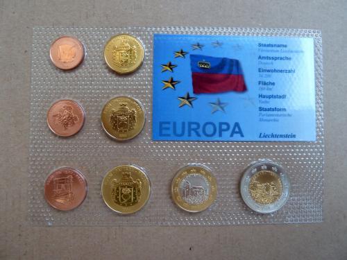 Лихтенштейн набор европробы 2004г., UNC, блистер