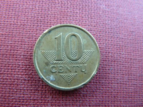 Литва 10 центов 1998г.