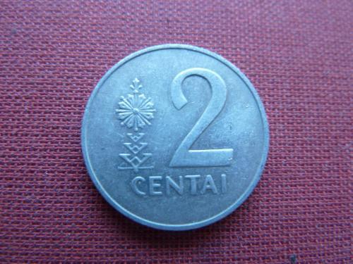 Литва 2 цента 1991г.