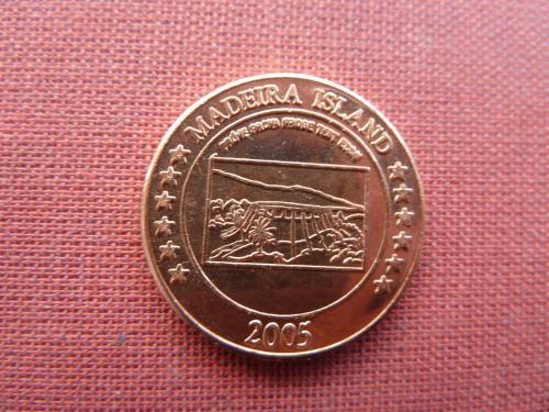 Мадейра остров  5 центов  2005г. из набора евро-пробы,UNC редкий