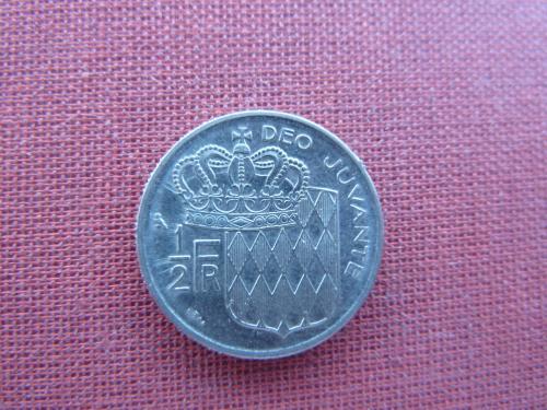 Монако 1/2 франка 1963г.