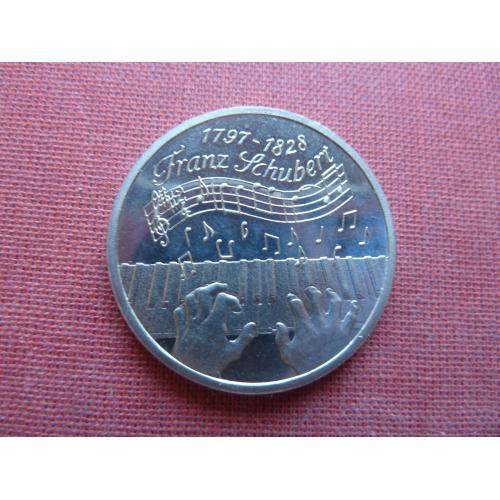 Нидерланды 1 экю 1997г.  Юбилейные.300-летия со дня рождения Франца Шуберта редкий