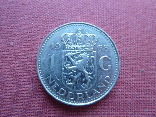 Нидерланды 1 гульден 1968г.