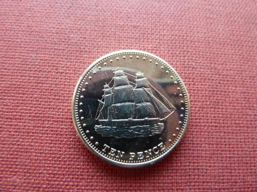 Остров Стольтенхофф (Тристан-да-Кунья) 10 пенсов 2008г.,