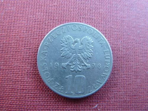 Польша 10 злотых  1976г