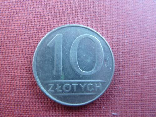 Польша 10 злотых  1988г