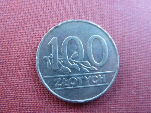 Польша 100 злотых  1990г