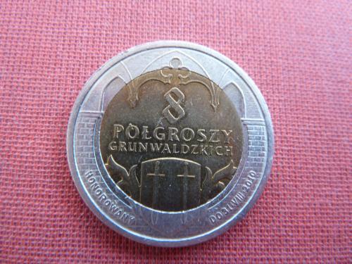 Польша локальный дукат  8 polgroszy 2010г.,г.Грюнвальд