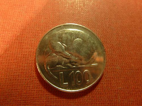 Сан-Марино 100 лир 1975г. UNC