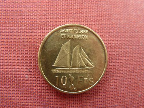 Сен-Пьер и Микелон 10 франков 2013г. Очень редкие