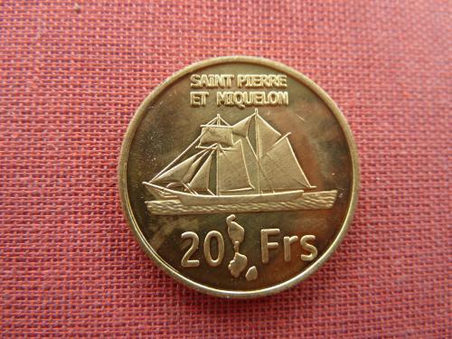 Сен-Пьер и Микелон 20 франков 2013г. Очень редкие