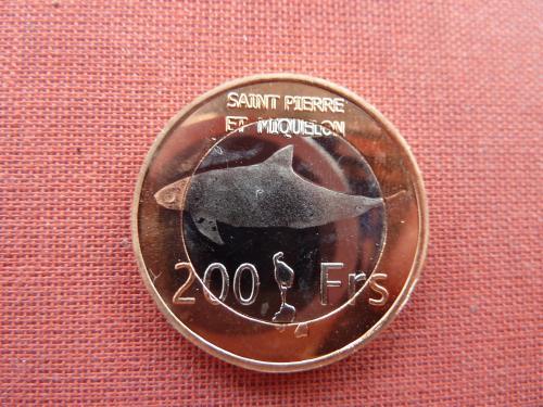Сен-Пьер и Микелон 200 франков 2013г. Очень редкие