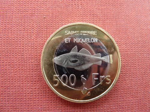 Сен-Пьер и Микелон 500 франков 2013г. Супер редкие