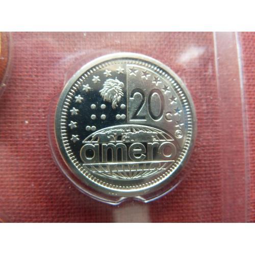 Северо-Американский союз  20 амеро центов 2011г. UNC  из набора, Супер редкий