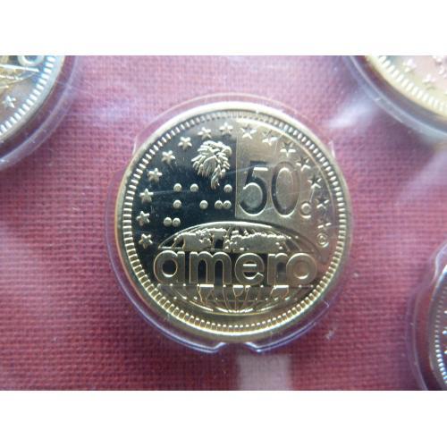 Северо-Американский союз  50 амеро центов 2011г. UNC  из набора, Супер редкий