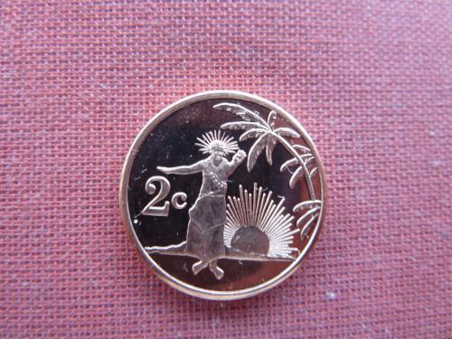 Токелау 2 цента  2012г. UNC редкие